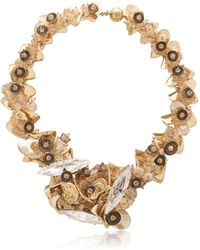 Heaven Tanudiredja Embroidered Chain Sculpture Necklace - Lyst