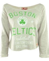 Sportiqe Women's Long-sleeve Boston Celtics Crop Top - Gray