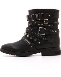 L.A.M.B. - Tessa Moto Boots Black - Lyst