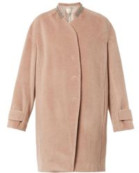 Rebecca Taylor Chainembellished Woolblend Coat - Lyst