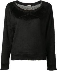 L'Agence - Fuzzy Sweatshirt - Lyst