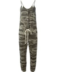 Enza Costa Camouflage Print Jumpsuit - Lyst