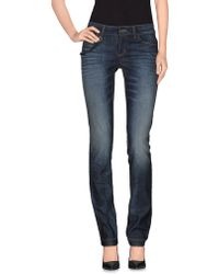 Gucci Denim Trousers blue - Lyst
