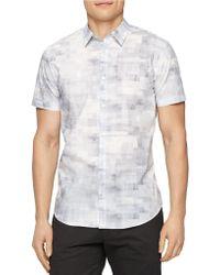 Calvin Klein Cubist Paned Sport Shirt - Lyst