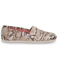 TOMS Natural Canvas Snake Women'S Classics - Lyst