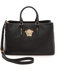 Versace Leather Handbag  Blackgold - Lyst
