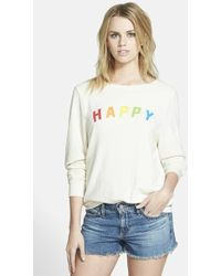 Wildfox  'Happy Girl' Baggy Beach Jumper Pullover - Lyst