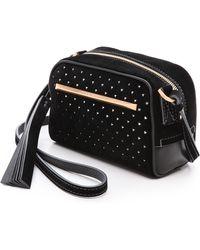 B Brian Atwood - Perforated Barbara Cross Body Bag Black - Lyst