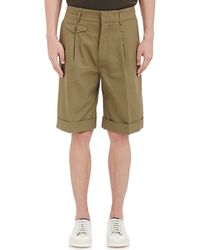 Lemaire - Men's Canvas Oversized Cuffed Shorts - Lyst