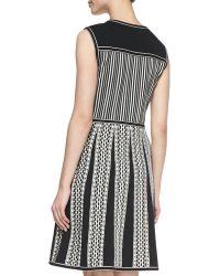 Tory Burch Monique Sleeveless Tuckstitch Cotton Dress - Lyst