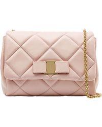 Ferragamo Gelly Mini Quilted Leather Shoulder Bag - Lyst