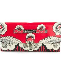 Valentino Floral Clutch - Lyst