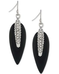 Vince Camuto - Silver-tone Pavé Resin Spike Drop Earrings - Lyst