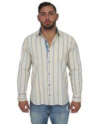 Giorgio Bellini - Madrid Linen Blend Button Front Shirt - Lyst