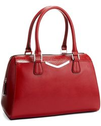 Calvin Klein Red Convertible Satchel - Lyst