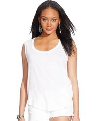 Polo Ralph Lauren Scoop-Neck Tank Top - Lyst