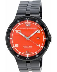 Porsche Design Flat Six Chronograph Watch - Black