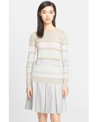 Jason Wu Stripe Mixed Media Sweater - Lyst
