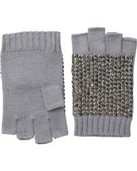 BCBGMAXAZRIA Sequin Fingerless Gloves - Gray