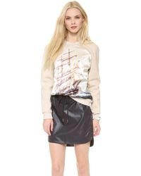 Emma Cook - Satin Front Sweatshirt - Lyst