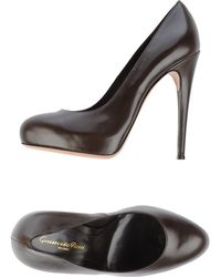 Gianvito Rossi Court brown - Lyst