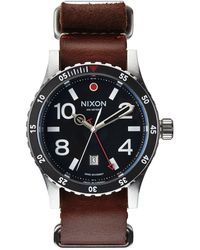 Nixon Diplomat Black And Brown Watch silver - Lyst