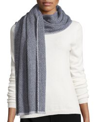 Tomas Maier - Diamond Weave Wool/cashmere Scarf - Lyst
