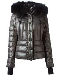 Moncler Grenoble - 'Bever' Detachable Racoon Fur Trim Collar Coat - Lyst