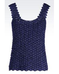 Emporio Armani Crocheted Top - Lyst