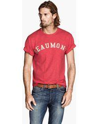 H&M Tshirt with Appliqué - Lyst