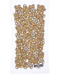 Moschino Teddy Bear Printed Beach Towel - Brown