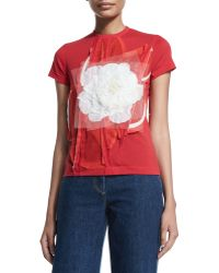 Creatures of the Wind - Short-sleeve T-shirt W/tulle Flower Patch - Lyst