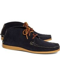 Brooks Brothers Rancourt & Co. Suede Short Chukkas - Lyst