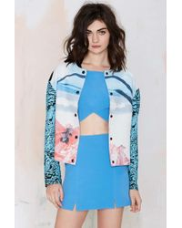 Nasty Gal Alice Mccall Sea Float Bomber Jacket - Lyst