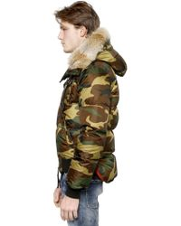DSquared² Camouflage Hooded Nylon Down Jacket - Lyst
