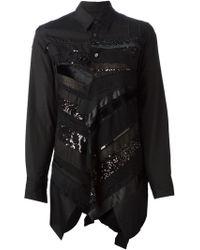 Junya Watanabe Patchwork Embellished Shirt - Lyst