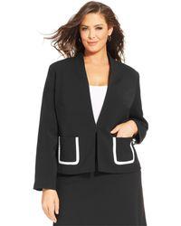 Jones New York Collection Plus Size Collarless Blazer - Lyst