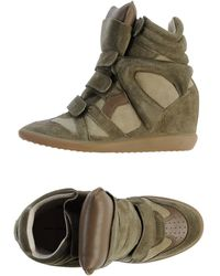 Isabel Marant Green High-tops  Trainers - Lyst