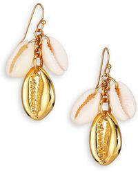 Tory Burch Mikah Seashell Cluster Drop Earrings - Lyst