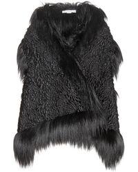 Stella McCartney Faux Fur Cape - Black