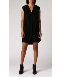 Azalea Layla Cross Front Dress black - Lyst
