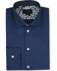 Duchamp Herringbone Single-cuff Cotton Shirt - Lyst