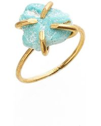 Five And Two 'elle' Stone Ring - Turquoise - Blue