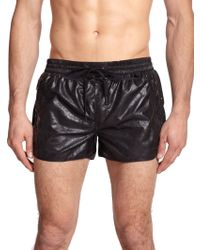 Diesel Reef Coated Studded Swim Trunks black - Lyst