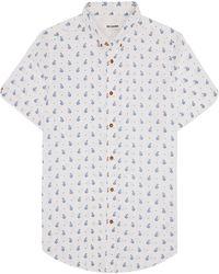 Ben Sherman Slim Soho Fit Paisley Print Sport Shirt - Lyst