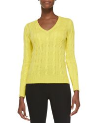 Ralph Lauren Collection Cashmere Cable-knit Sweater - Lyst