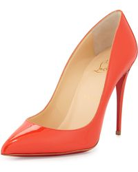 Christian Louboutin Patent Pointed-Toe Red Sole Pump - Lyst