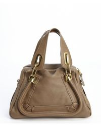 Chloé Barbour Khaki Leather Paratay Small Convertible Shoulder Bag - Lyst