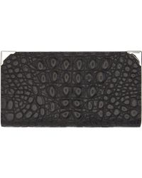 Alexander Wang Black Matte Croc_embossed Prisma Wallet - Lyst