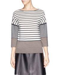 Tory Burch 'Fern' Stripe Wool Knit Sweater - Lyst